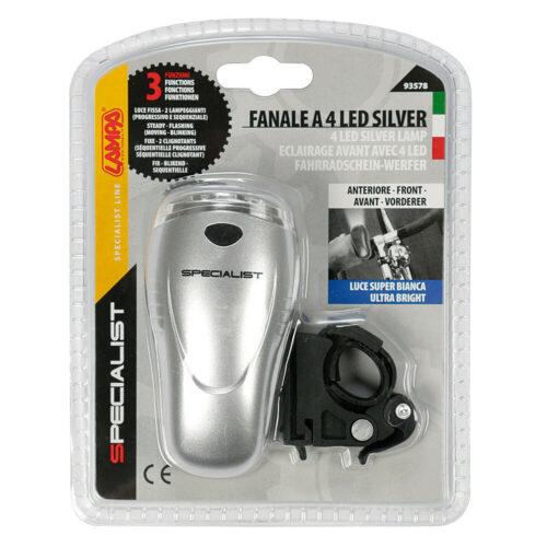 FANALE CICLO ANTERIORE 4 LED LAMPA